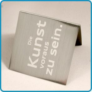 """Magnet-Lesezeichen mit Aluminiumoberfläche """"Grontmij"""""""