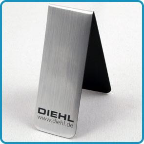"""Magnet-Lesezeichen mit Aluminiumoberfläche """"Menck"""""""