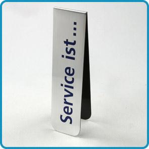 """Magnet-Lesezeichen mit Aluminiumoberfläche """"Filine"""""""