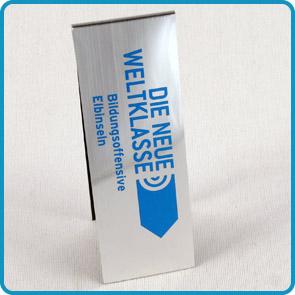 """Magnet-Lesezeichen mit Aluminiumoberfläche """"Banking"""""""